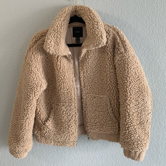 Brown Teddy Trendy Jacket for Fall/Winter!
